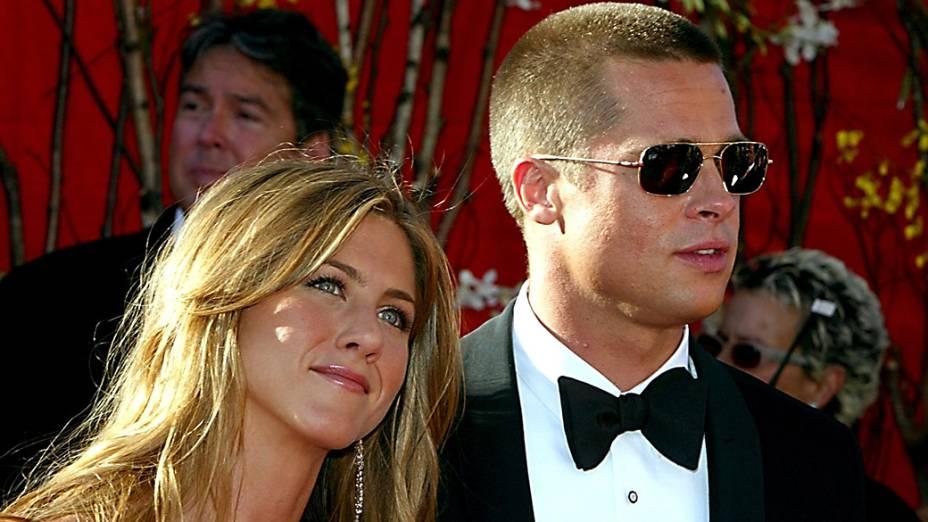 Jennifer Aniston e Brad Pitt em 2004