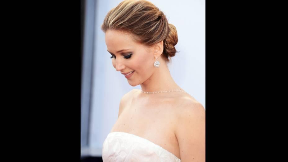 Jennifer Lawrence durante  noite de premiação do Oscar 2013