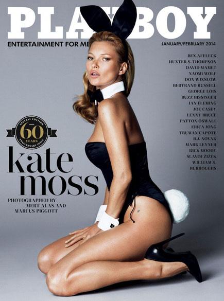 Kate Moss na capa da edição comemorativa de 60 anos da Playboy