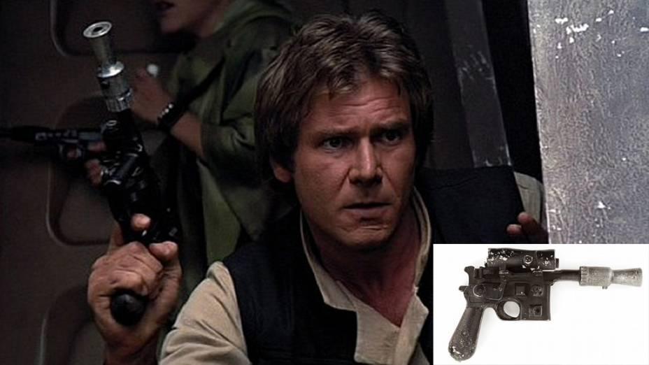 A pistola Mauser que Han Solo (Harrison Ford) usou em Star Wars será leiloada a um preço calculado entre 200.000 e 300.000 dólares, informou nesta quarta-feira (04) o site Invaluable
