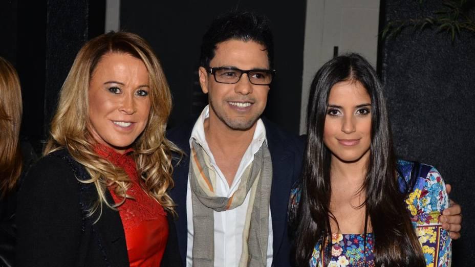 Zezé Di Camargo recebe sua filha e a ex, Zilú, no 2º Leilão Nelore É O Amor, na Brooks, em São Paulo