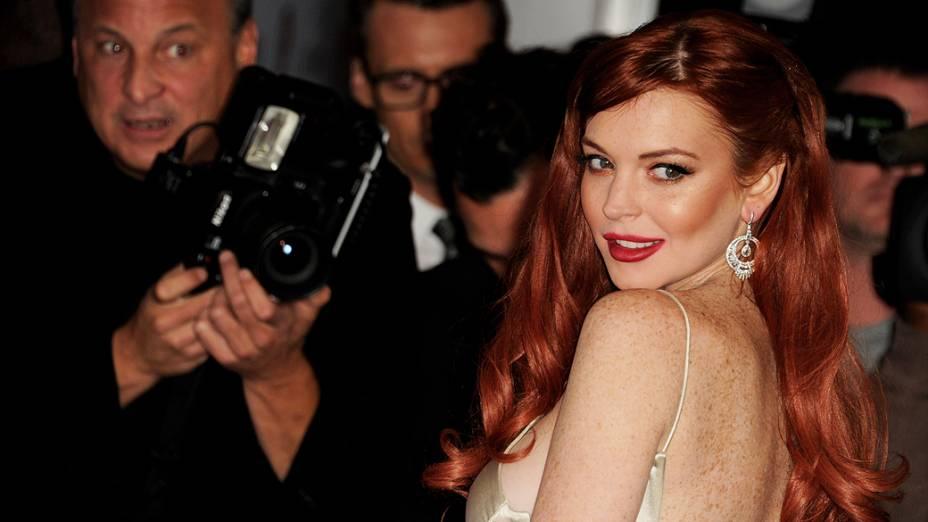 Lindsay Lohan durante estréia de Liz & Dick, em 2012