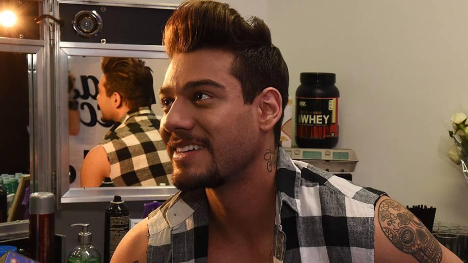 Camarim do cantor sertanejo Lucas Lucco, em São Paulo