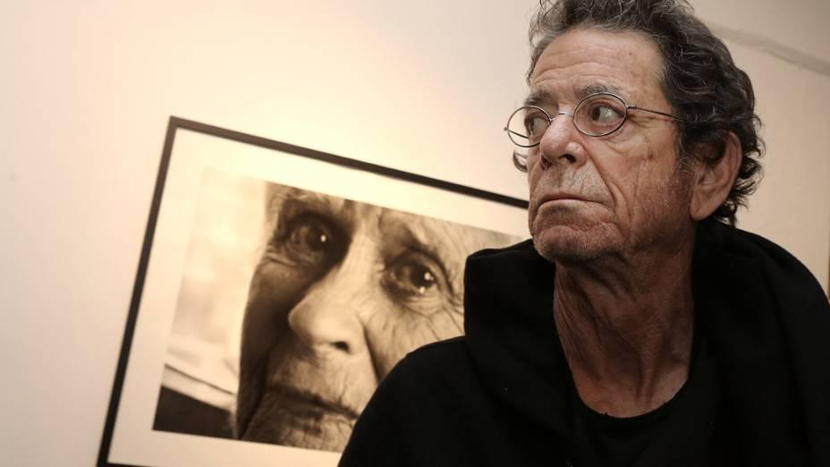 Lou Reed em uma exposição na Alemanha, em 2012
