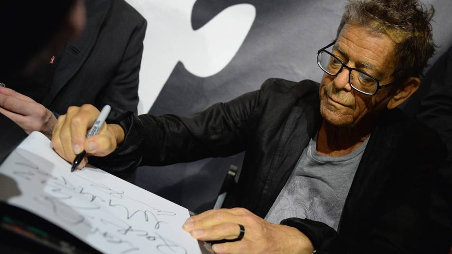 Lou Reed no lançamento do livro Transformer em Nova York, em 3 de outubro de 2013