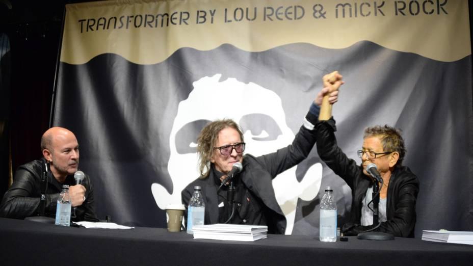 Lou Reed e Mick Rock no lançamento do livro Transformer em Nova York, em 3 de outubro de 2013