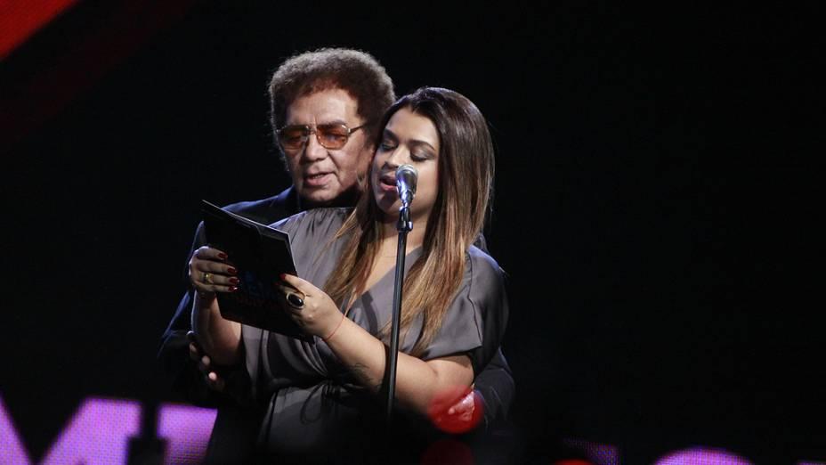 Reginaldo Rossi e Preta Gil, apresentando o Prêmio Multishow, em 2009