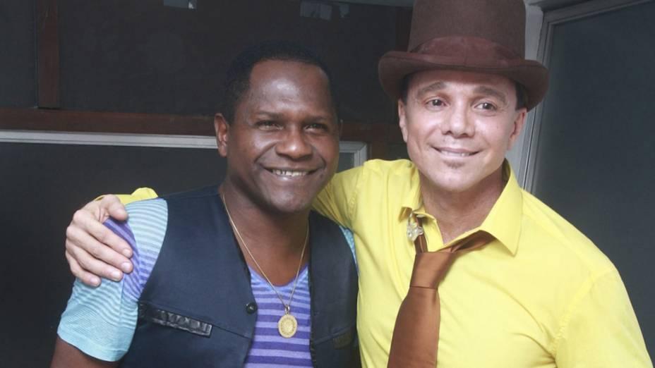 Netinho com o vocalista do Araketu, Tatau