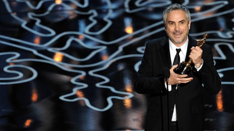 Alfonso Cuáron levou a estatueta de melhor diretor, pelo filme Gravidade