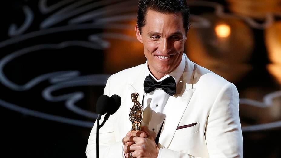 Matthew McConaughey leva a estatueta de melhor ator, pela atuação em Clube de Compras Dallas