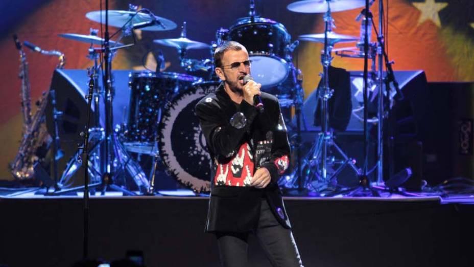 Ringo Starr se apresenta no Credicard Hall, em São Paulo