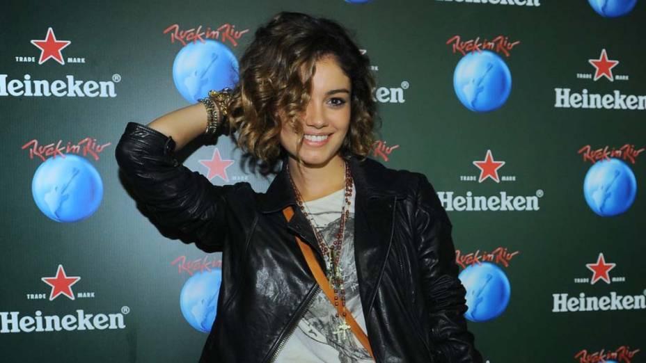 Sophie Charlotte no camarote da Heineken, no segundo dia do Rock in Rio 2013