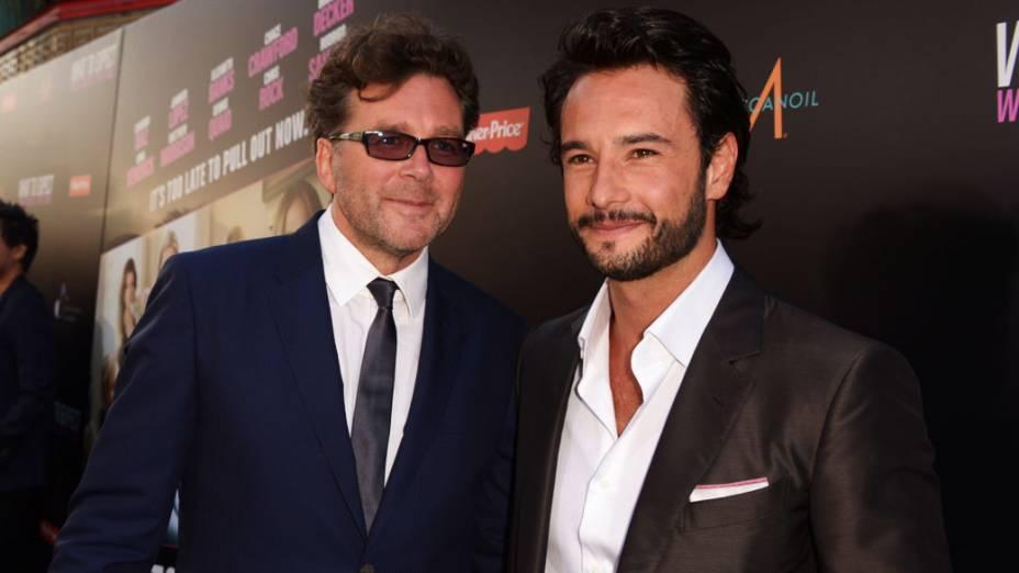 O diretor Kirk Jones e Rodrigo Santoro, em Hollywood