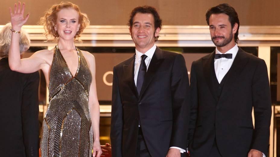 Nicole Kidman, Cliven Owen e Rodrigo Santono em Cannes, na França