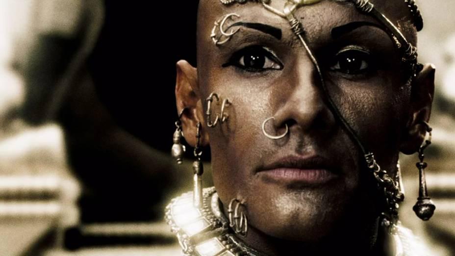Rodrigo Santoro interpreta Xerxes no filme 300
