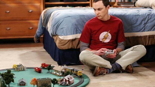 Sheldon (Jim Parsons) em cena da série Big Bang Theory