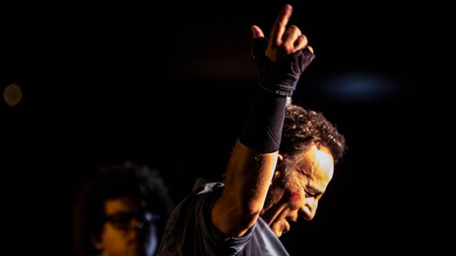 Bruce Springsteen faz show no Espaço das Américas, em São Paulo