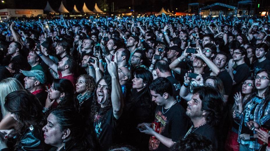 Banda Iron Maiden faz show na Arena Anhembi em São Paulo, antes de apresentação no Rock in Rio 2013