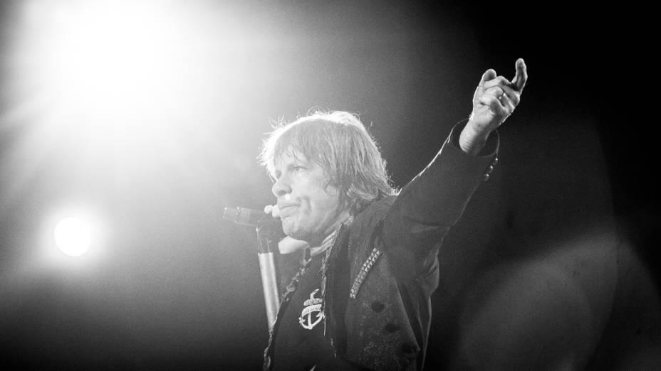 Banda Iron Maiden faz show na Arena Anhembi em São Paulo, antes da apresentação no Rock in Rio 2013