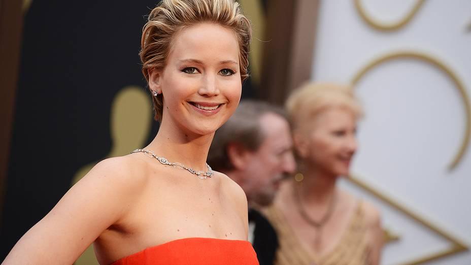 Jennifer Lawrence na chegada para o Oscar 2014