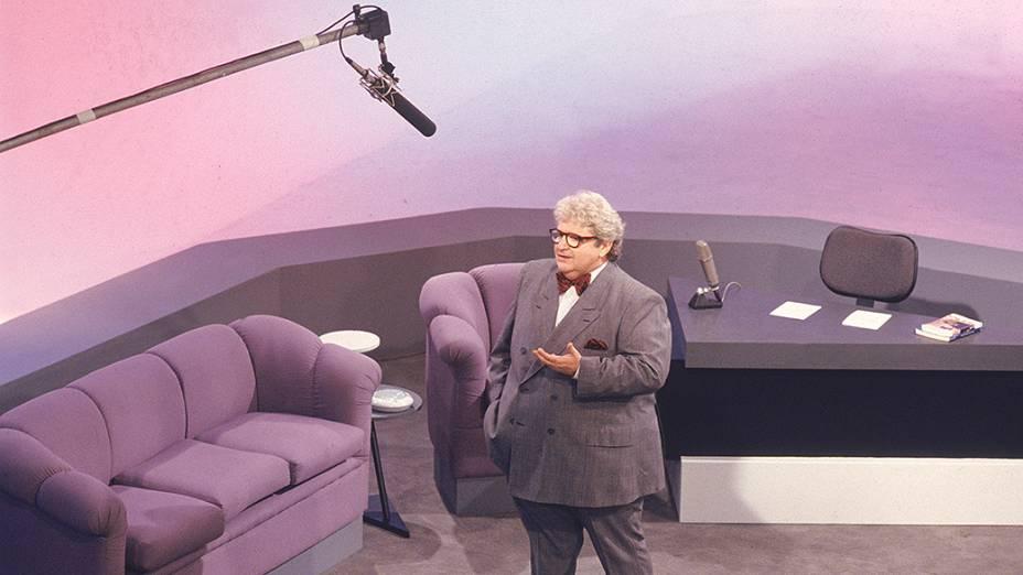 Jô Soares no programa Jô Soares Onze e Meia, do SBT em 1988