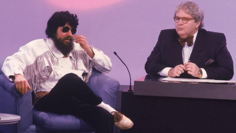 """Raul Seixas no programa Jô Onze e Meia"""", do SBT em 1989"""