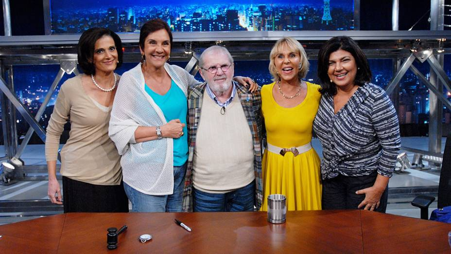 Lillian Witte Fibe, Lucia Hippolito, Jô Soares, Ana Maria Tahan e Cristiana Lôbo