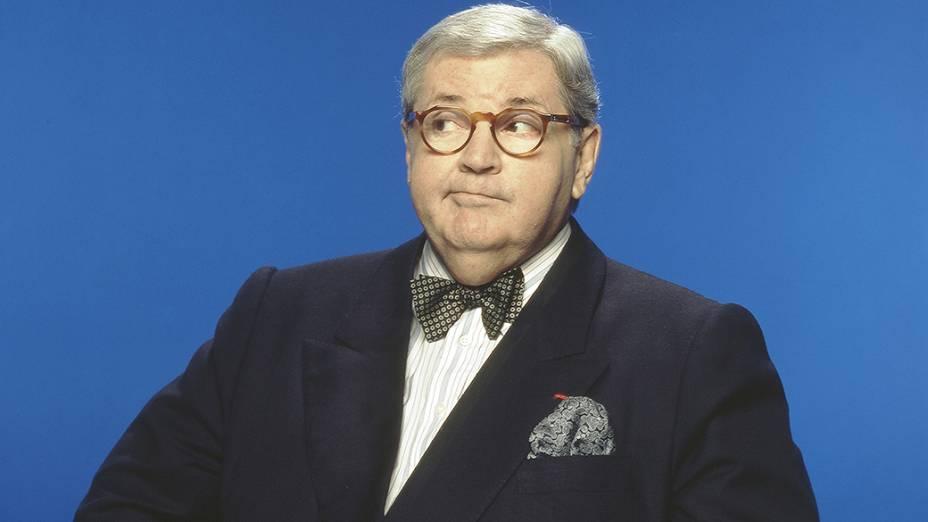Jô Soares, humorista e apresentador do programa Jô Soares Onze e Meia, no SBT em 1992