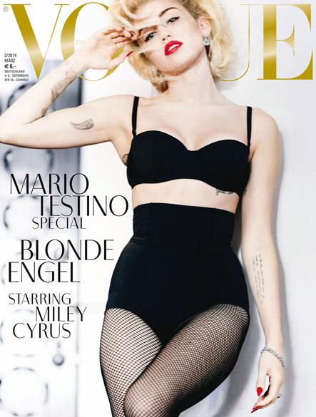 Miley Cyrus na capa da Vogue alemã