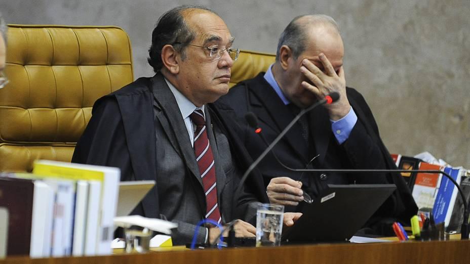 Ministro do Supremo Tribunal Federal (STF), Celso de Mello durante julgamento do mensalão, em 01/10/2012