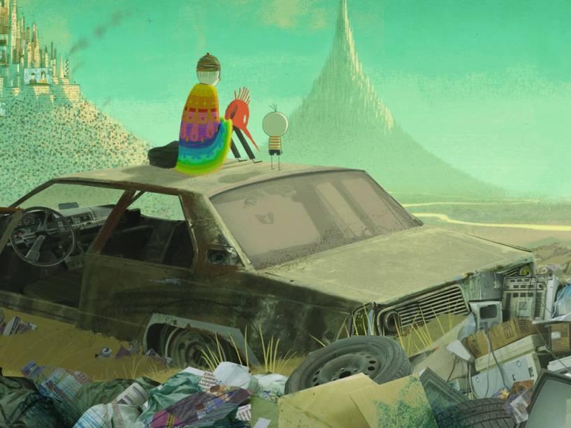 Cena do filme O Menino e o Mundo