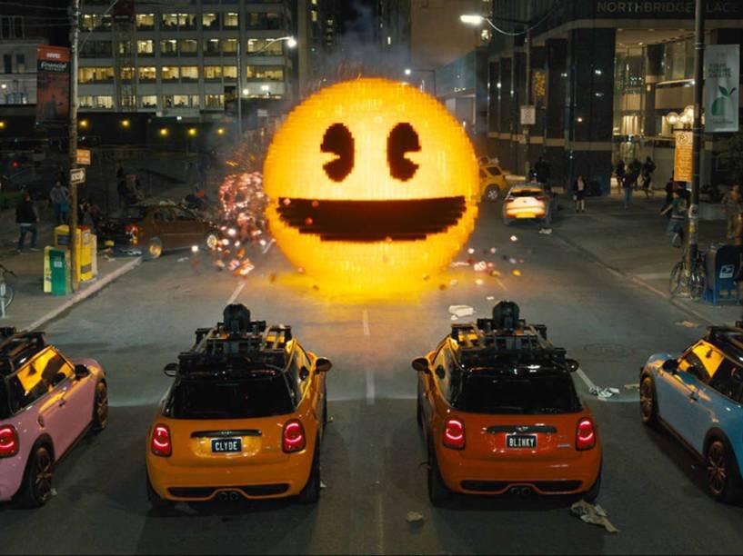 Personagem de videogame, Pac-Man vira vilão no filme Pixels