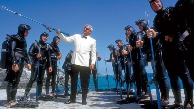 Cena do filme 007 contra a Chantagem Atômica (Thunderball, de 1965)