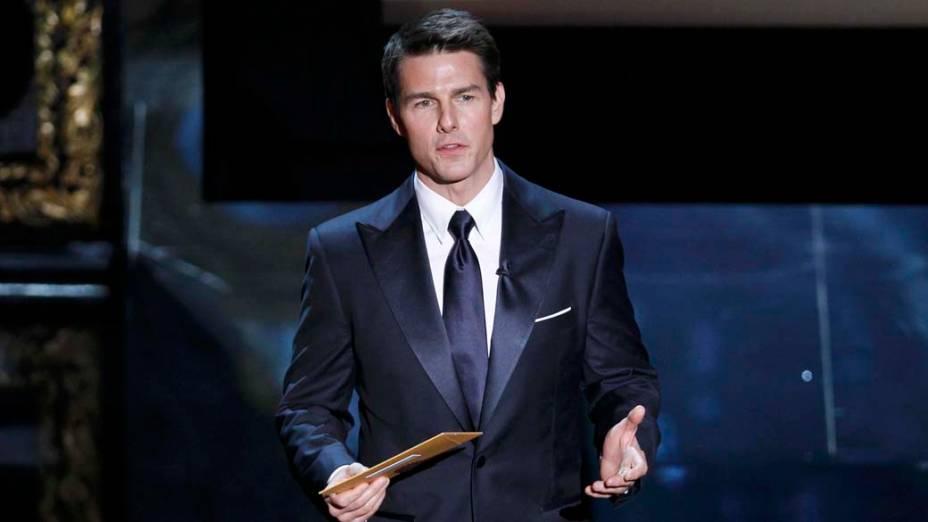 Tom Cruise apresentando a categoria de melhor filme no Oscar 2012