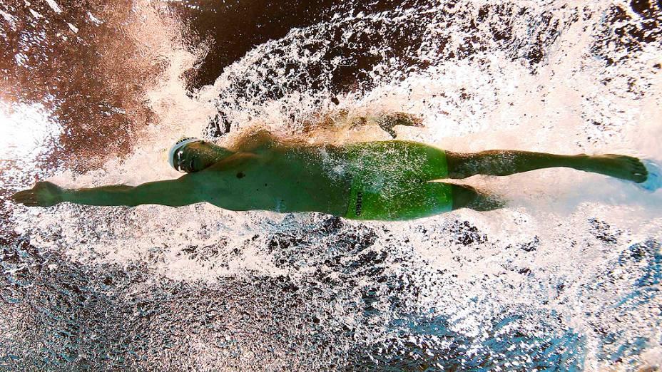 Brasileiro Cesar Cielo confirmou seu favoritismo nas eliminatórias dos 100 m livre dos Jogos Olímpicos de Londres 2012, em 31/07/2012
