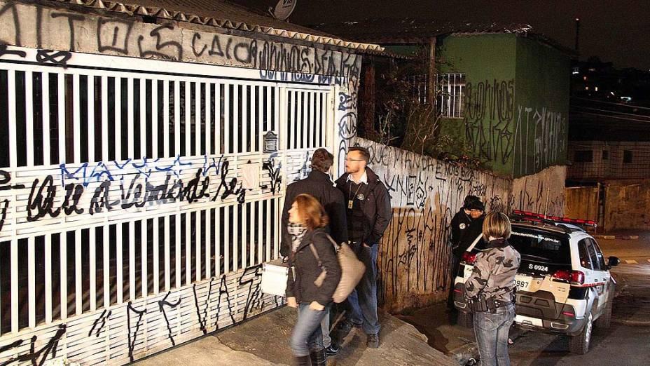 Reconstituição da morte da família de policiais militares encontrada morta dentro de casa, no bairro da Brasilândia, Zona norte de São Paulo