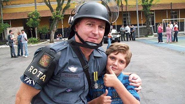 Sargento da Rota Luís Marcelo Pesseghini e seu filho Marcelo