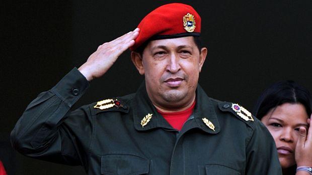 Chávez após discurso em Caracas
