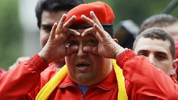 O coronel Hugo Chávez