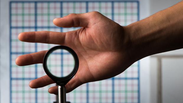 Linhas do fundo não são distorcidas pela lente