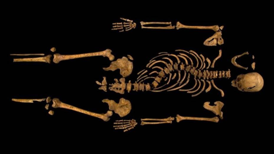 <p>O esqueleto descoberto mostra que o monarca era, de fato, corcunda</p>