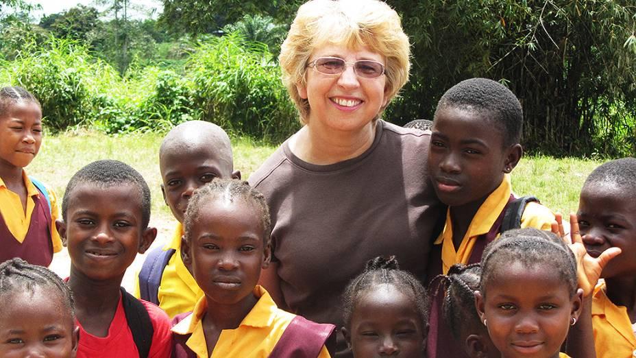 Missionária americana Nancy Writebol, na Libéria em outubro de 2013