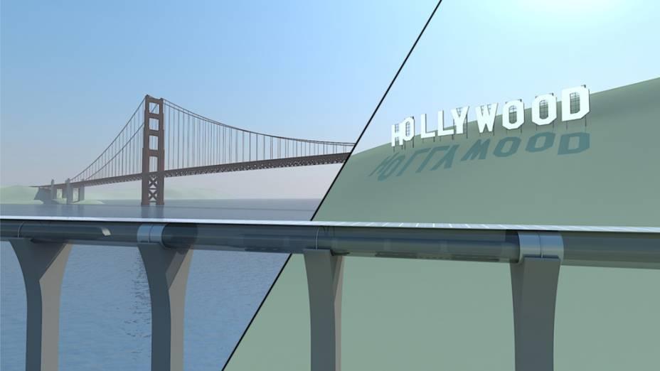 O Hyperloop será capaz de percorrer os 600 quilômetros que separam as cidades de São Francisco e Los Angeles em 30 minutos