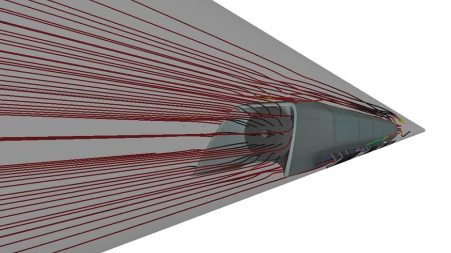"""Um sistema de ventilação localizado na parte de baixo da cápsula permite que ela """"levite"""", evitando contato com o tubo e diminuindo a resistência a seu movimento"""