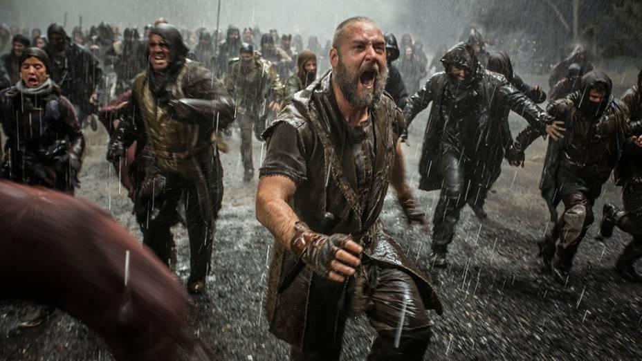 O ator Russell Crowe no filme Noé