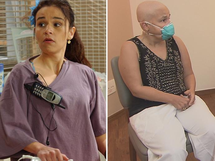 Claudia Rodrigues durante a época da série A Diarista (2004-2007) e na entrevista com Geraldo Luis, do Domingo Show