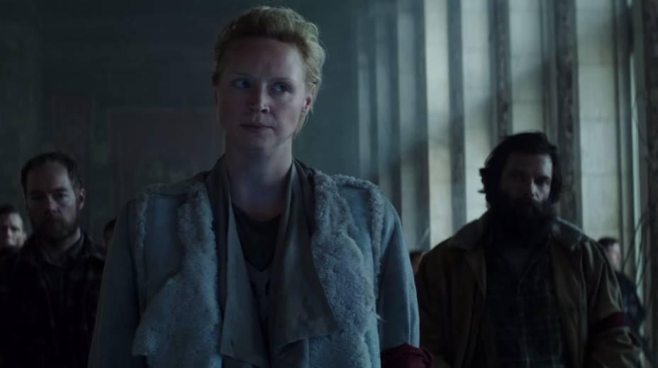 Comandante Lyme (Gwendoline Christie) em Jogos Vorazes: A Esperança - O Final