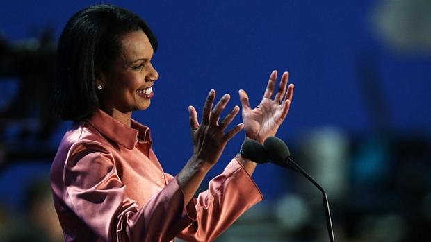 Secretária de Estado no governo de George W. Bush, Condoleezza Rice criticou a política externa de Obama