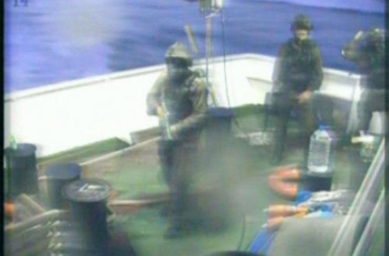 A emissora também registrou o momento em que a tropa Israelense invadiu o barco da Frota da Liberdade.