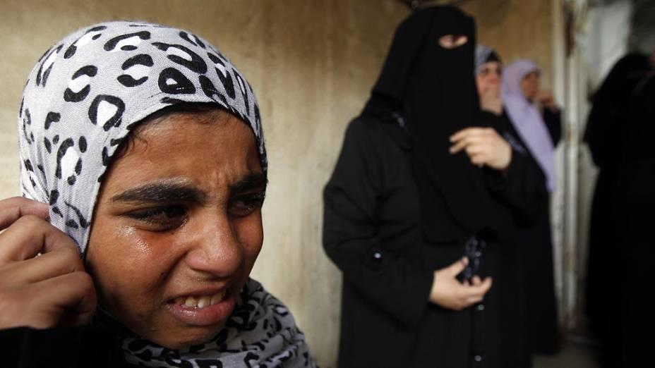 Família de Tasneem al-Nahal, garota palestina de 13 anos morta durante os ataques à Gaza
